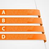 3D rubans abstraits Infographic Éléments de conception Photos libres de droits