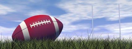 3D rugbybal - geef terug Stock Afbeelding