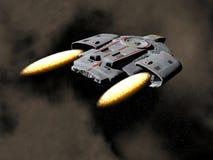 3D ruimteschip - geef terug Stock Foto