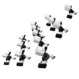 3d running business men hurriedly. 3D Square Man Series. Royalty Free Stock Photography