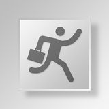 3D Running icon Business Concept Royalty Free Stock Photo