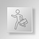 3D Running icon Business Concept Royalty Free Stock Photos