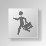 3D Running icon Business Concept Stock Photo