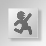 3D Running icon Business Concept Stock Photos