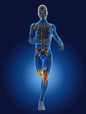3D running medical man Royalty Free Stock Images