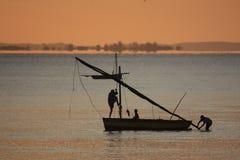 Łódź rybacka Inhassoro, Mozambik - Fotografia Stock