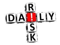 3D ryzyka Dzienny Crossword Zdjęcia Royalty Free