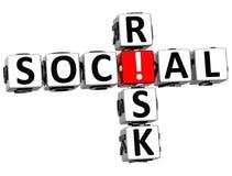3D ryzyka Ogólnospołeczny Crossword Fotografia Royalty Free