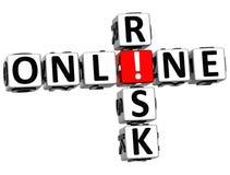 3D ryzyka Online Crossword Zdjęcia Stock