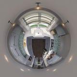3d sömlös panorama för illustration 360 av kökdesignen Royaltyfria Bilder