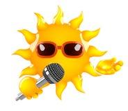 3d słońce śpiewa ilustracji