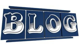 3D słowa blog royalty ilustracja