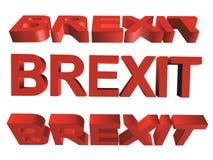 3D słowo - brexit Fotografia Royalty Free