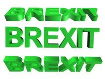 3D słowo - brexit Zdjęcia Stock