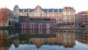 D.S.R.V. Laga,Delftsche Studenten Roei Vereeniging & x22;Laga& x22;. Delft student rowing club & x22;Laga& x22;, Delftse Schie channel, the Netherlands Stock Images