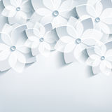 花卉抽象背景, 3d传统化了sa花 库存图片