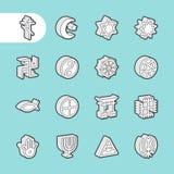 3D sadła linii ikony Zdjęcia Royalty Free