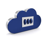 3d safe cloud isolated over white background Stock Images
