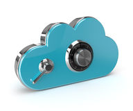 3d safe cloud isolated over white background Royalty Free Stock Image