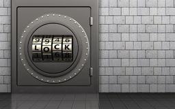 3d safe code lock door Royalty Free Stock Photo