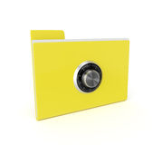 3d safe folder isolated over white background Royalty Free Stock Photography
