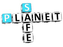 3D Safe Planet Crossword. On white backgound Royalty Free Stock Photos