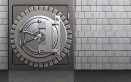 3d safe steel bank door Stock Photos