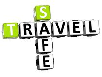 3D Safe Travel Crossword Royalty Free Stock Photos