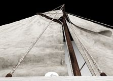3d sailing boat Stock Photography
