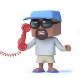 3d Sailor dude answers the phone Stock Photo