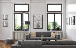 3d - sala de estar - concepto interior Imagenes de archivo