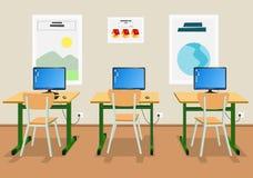 3d sala lekcyjnej pojęcia edukaci pusta ilustracja odpłaca się Obrazy Royalty Free