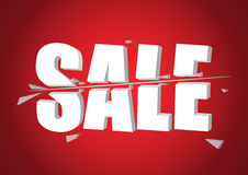 3d Sale cut Stock Photo