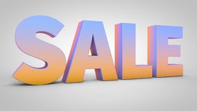 3d sale gradient text isolated on white background, 3d render. D sale gradient text isolated on white background, 3d render Royalty Free Stock Image