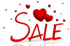 3D Sale, hearts card Royalty Free Stock Photos