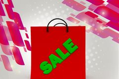 3d sale  illustration Royalty Free Stock Photo