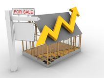 3d sale sign Royalty Free Stock Photo