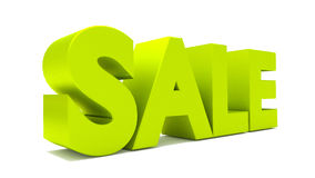 3d sale text letters render Royalty Free Stock Photos