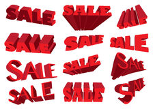 3D sale text Stock Photos