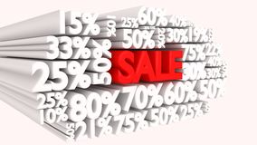 3D Sale word and percentage signs Royalty Free Stock Photo