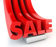 3D SALE word promotion red Stock Image