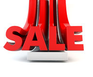 3D SALE word promotion red Royalty Free Stock Images