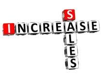 3D Sales Increase Crossword Stock Image