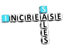 3D Sales Increase Crossword Royalty Free Stock Image