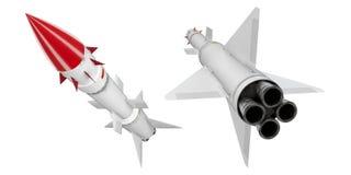 3d sam missiles set Stock Photos