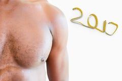 3D Samengesteld beeld van bodybuilder Royalty-vrije Stock Foto's