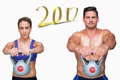 3D Samengesteld beeld van het bodybuilding van paar Royalty-vrije Stock Afbeelding