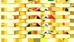 3d samenvatting die de gele meetkunde van het spiegelmetaal teruggeven Royalty-vrije Stock Foto