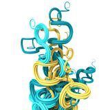 3d samenvatting gebogen vormen Stock Afbeelding