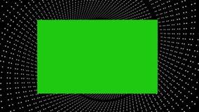 3D samenvatting met het groene scherm stock video